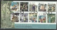 SINGAPORE 2019 S'PORE BICENTENNIAL FIRST DAY COVER WITH COMP. SET OF 10 STAMPS