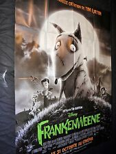 FRANKENWEENIE  !  tim burton  affiche cinema animation horreur