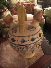 Antique Rare Mediterranean Spanish Maiolica Delft Jug Ewer SIGNED T A TAVERA