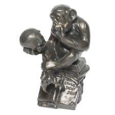 Affe mit Schädel Darwin Hugo Rheinhold Plastik Figur Wolfgang bronziert