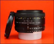 Nikon 50mm F1.8 Lente AF con enfoque automático Prime Nikkor D-Con Tapas Lente Frontal Y Trasera