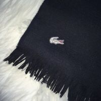 Vintage Lacoste Black Wool Scarf