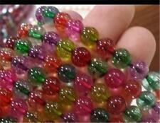 """10mm Multicolor Tourmaline Round Loose Beads 15"""" AAA"""