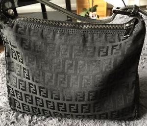 Fendi Canvas Vintage Black Handbag