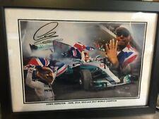 A4 12x8 Signed Lewis Hamilton - 4 Times World Champion Cel. Edition - Mercedes