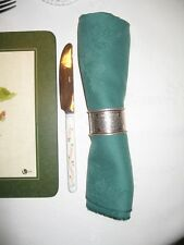 "Square green patterned cloth table napkins dinner wedding 50x50cm (20x20"")x 8pcs"