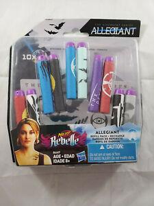 NERF Rebelle Allegiant Dart Refill Pack, 10 Pack, with Allegiant Stickers NIP