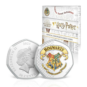 Harry Potter Gifts Limited Edition Collectable 50p Shaped Coin – Hogwarts