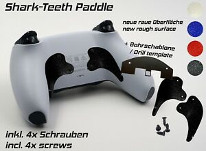 Shark-Teeth Paddle For PS5 PLAYSTATION Dualsense Controller Remap Modding