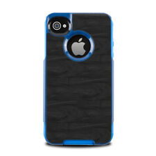 Skin for Otterbox Commuter iPhone 4 - Black Woodgrain - Sticker Decal