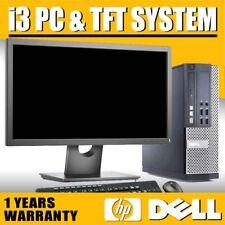 More details for full dell/hp core i3 desktop tower pc & 19