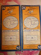 Carte  michelin 24 suisse andermatt bolzano 1952