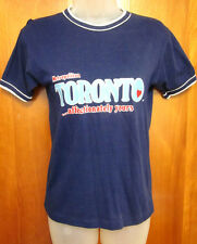 TORONTO youth small ringer T shirt vtg 1970s juniors tee Affectionately Yours