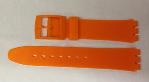 Plastic Resin SWATCH Replacement Watch Strap -17mm - Orange Resin