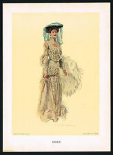 1907 Antique Howard Chandler Christy Girl Victorian Fashion Dollie Art Print