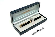 Sailor Fountain Pen Barcarolle 14K Metallic136mm F Black & Gold 111528220 New