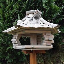 Vogelhaus XL 48cm Vogelhäuser Vogelfutterhaus Vogelhäuschen aus Holz Bunt Neu S