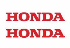"2 HONDA  LOGO RED DECALS MOTORCYCLE RACING CAR STICKERS 7"" X 1"" SET OF TWO"