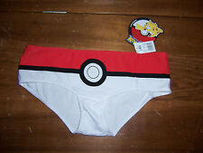 Nintendo POKEMON Women's Underwear Hipster Panty Size L Large Red/White