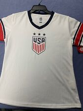 Mia Hamm USA Soccer Authentic Jersey Women's Large World Cup Champs USA Gold