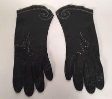 Almondized Beauty Skin, Beautiful Vintage 1940's Black Leather Gloves