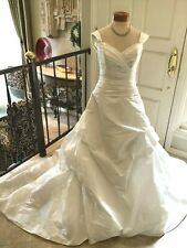 JOLI Bridal gown Wedding Dress taffeta White pick up skirt 10 New without tag