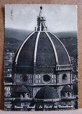 Firenze - Duomo - la cupola del Brunelleschi [grande, b/n, viaggiata]