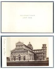 Van Lint, Italie, Pise La cathédrale  CDV vintage albumen,  Tirage albuminé