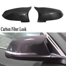 2x Carbon Fiber Look Mirror Cover Cap For BMW 5 6 7 Series F10 F12 F01 529i 640i