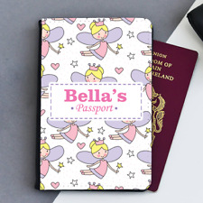 Personalised Fairy Fairies Girls Baby First Kids Childrens Passport Holder Cover