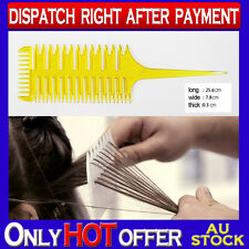 Carbon Antistatic Comb Professional Tool Salon Use for Applying Highlight yellow