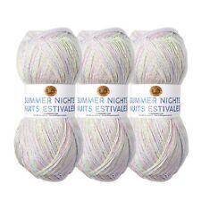 Lion Brand Yarn 512-306 Summer Nights Bonus Bundle, Ocean Cove (Pack of 3)