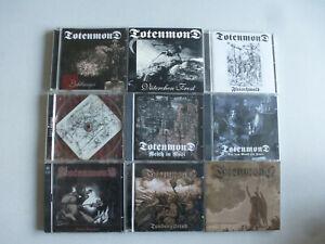 "CD-PAKET ""10 x TOTENMOND"" Bundle Konvolut signiert Eisenvater Winter Drecksau"