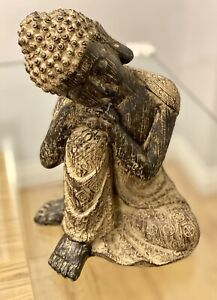 Ports of Call Jeff Banks: Rustic Wood and Gold Effect Buddha Statue