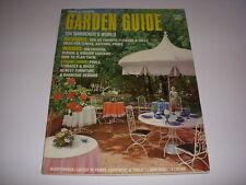 Vintage HOUSE & GARDEN GARDEN GUIDE, 1970, GAZEBOS, PONDS, GREENHOUSES, ATRIUMS!