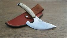 FINE Vintage Hand-forged Carbon Steel Custom Wyoming-type Skinning Hunting Knife