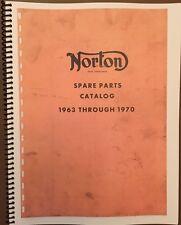 Norton Spare Parts Catalog 1963 - 1970 Vintage Motorcycle AHRMA Re-Print