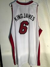 Adidas Swingman NBA Jersey Miami Heat Lebron James White Nickname sz 3X