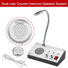 Dual Way Window Counter Intercom Interphone Speaker Fit Store Station Office UK