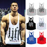 Men GYM Tank Tops Bodybuilding Stringer Athletic Shirt Fitness Singlet Clothing