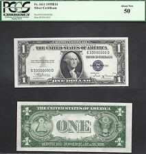 $1 1935-B SILVER CERTIFICATE=G 33000000 D=FANCY SERIAL NUMBER=PCGS Abt New 50
