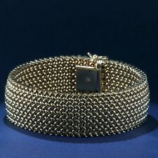 Sumptuous Woven Gold Mesh Bracelet in 14K Yellow Gold