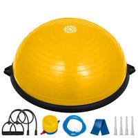"23""Fitness Yoga Half Ball Balance Trainer w/Pump Strength Training Workout"