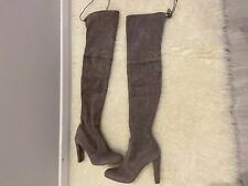 Stuart Weitzman Over The Knee Highland Boots, In Taupe Suede UK  7