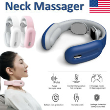 Neckology Intelligent Neck Massager USB Relax Relieve Massage Remote Control US