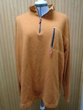 Orvis Trout Bum Mens Pullover 1/4 Zip Long Sleeve Logo Orange color XXL