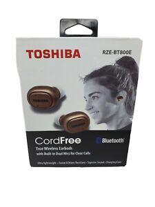 TOSHIBA CORDFREE AMP WIRELESS EARBUDS RZE-BT900E GOLD COLOR NEW