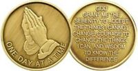 Recovery AA NA CA One Day at a Time Recovery Medallion tokens Praying Serenity