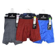 Jockey Men's Classic Mixed Boxer Briefs 100% Cotton Underwear - 3 Pack
