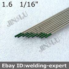 Green Tip Pure Tungsten Electrode 1.6mm X 150mm 1/16